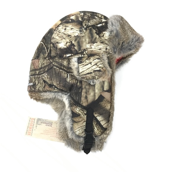 6d85804faf5477 mad bomber Accessories | Kids Hunting Trapper Hat Camo Real Fur ...